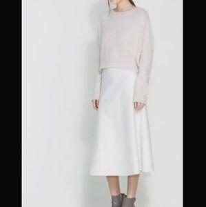 Zara White Mirmaid Maxi Skirt